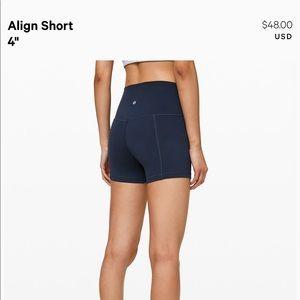"""Lululemon Align 4"""" short NWOT"""